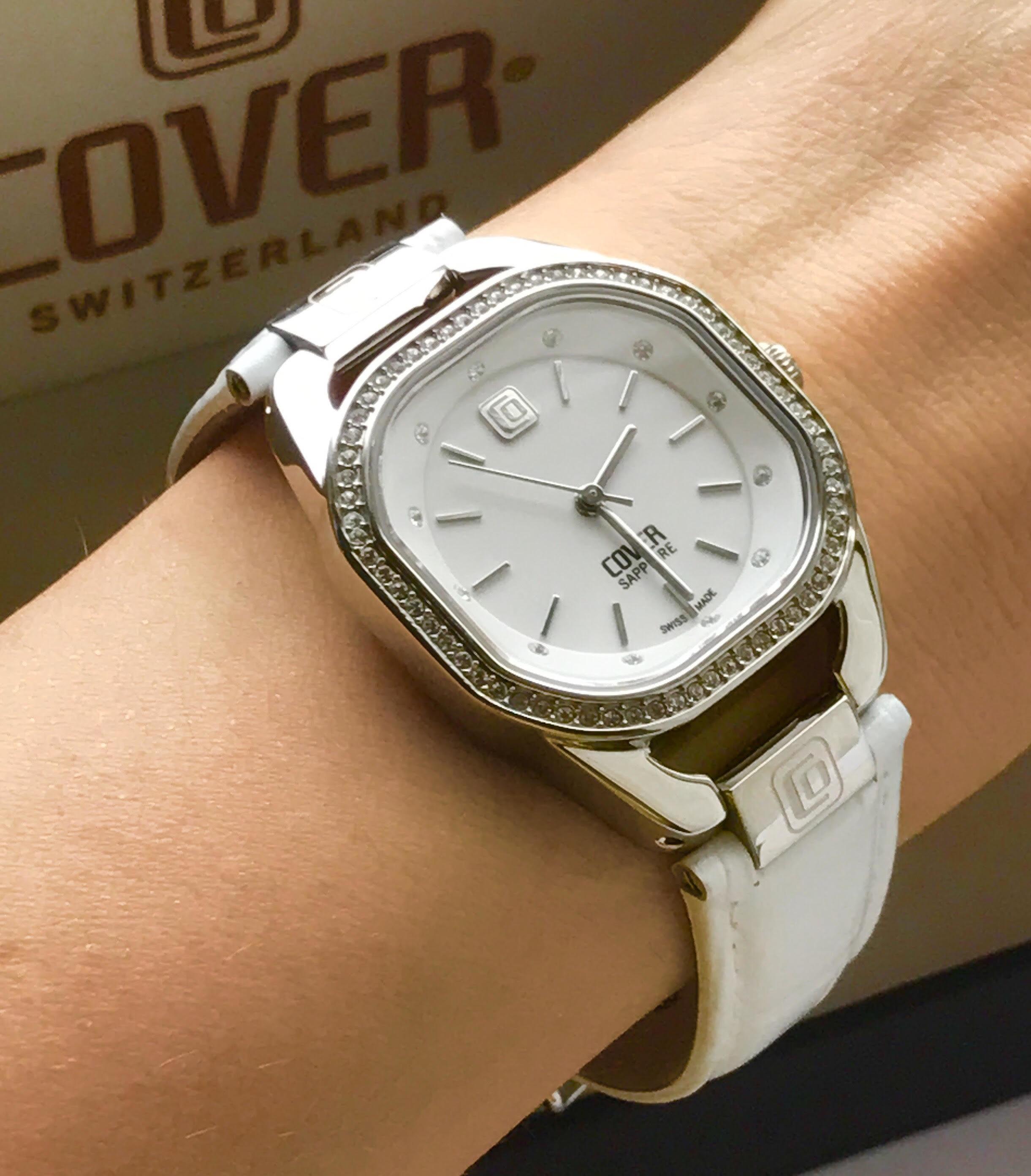 Часы женские белый кожаный ремень центробежное литье бронзы цена